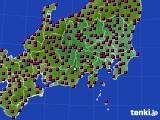 2021年04月21日の関東・甲信地方のアメダス(日照時間)