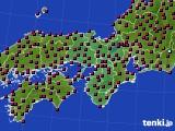 2021年04月21日の近畿地方のアメダス(日照時間)