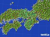 2021年04月21日の近畿地方のアメダス(気温)