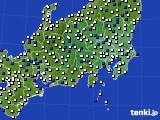 2021年04月21日の関東・甲信地方のアメダス(風向・風速)