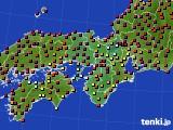 2021年04月22日の近畿地方のアメダス(日照時間)
