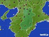 2021年04月22日の奈良県のアメダス(日照時間)
