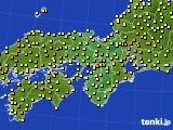 2021年04月22日の近畿地方のアメダス(気温)