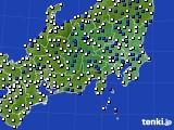 2021年04月22日の関東・甲信地方のアメダス(風向・風速)