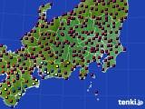 2021年04月23日の関東・甲信地方のアメダス(日照時間)