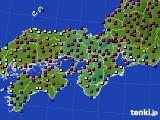 2021年04月23日の近畿地方のアメダス(日照時間)