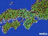 2021年04月24日の近畿地方のアメダス(日照時間)