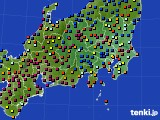 2021年04月25日の関東・甲信地方のアメダス(日照時間)