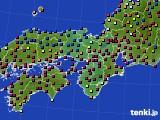 2021年04月25日の近畿地方のアメダス(日照時間)