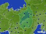 2021年04月25日の滋賀県のアメダス(風向・風速)