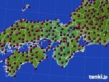 2021年04月26日の近畿地方のアメダス(日照時間)