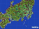 2021年04月27日の関東・甲信地方のアメダス(日照時間)