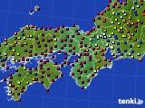 2021年04月27日の近畿地方のアメダス(日照時間)