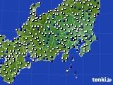 2021年04月27日の関東・甲信地方のアメダス(風向・風速)
