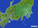 2021年04月28日の関東・甲信地方のアメダス(降水量)
