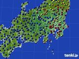 2021年04月28日の関東・甲信地方のアメダス(日照時間)