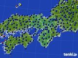 2021年04月28日の近畿地方のアメダス(日照時間)