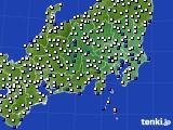 2021年04月29日の関東・甲信地方のアメダス(風向・風速)