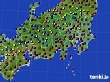2021年04月30日の関東・甲信地方のアメダス(日照時間)