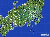 2021年04月30日の関東・甲信地方のアメダス(風向・風速)