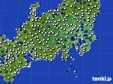 2021年05月01日の関東・甲信地方のアメダス(風向・風速)