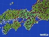 2021年05月04日の近畿地方のアメダス(日照時間)