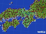2021年05月09日の近畿地方のアメダス(日照時間)