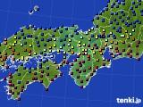 2021年05月10日の近畿地方のアメダス(日照時間)