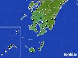 鹿児島県のアメダス実況(風向・風速)(2021年05月10日)