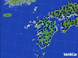 九州地方のアメダス実況(日照時間)(2021年05月12日)