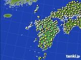 九州地方のアメダス実況(気温)(2021年05月12日)