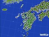 九州地方のアメダス実況(風向・風速)(2021年05月12日)