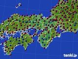 2021年05月14日の近畿地方のアメダス(日照時間)