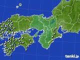 近畿地方のアメダス実況(降水量)(2021年05月15日)