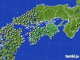 四国地方のアメダス実況(降水量)(2021年05月15日)