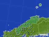 島根県のアメダス実況(降水量)(2021年05月15日)