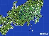 関東・甲信地方のアメダス実況(風向・風速)(2021年05月15日)