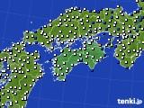 四国地方のアメダス実況(風向・風速)(2021年05月15日)
