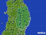 岩手県のアメダス実況(風向・風速)(2021年05月15日)