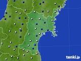 宮城県のアメダス実況(風向・風速)(2021年05月15日)