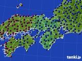 2021年05月19日の近畿地方のアメダス(日照時間)