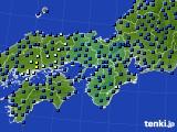 2021年05月21日の近畿地方のアメダス(日照時間)