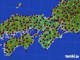 2021年05月23日の近畿地方のアメダス(日照時間)