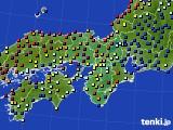 2021年05月25日の近畿地方のアメダス(日照時間)