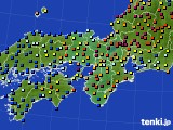 2021年05月26日の近畿地方のアメダス(日照時間)
