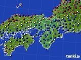 2021年05月28日の近畿地方のアメダス(日照時間)