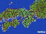 2021年05月31日の近畿地方のアメダス(日照時間)
