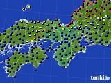 2021年06月05日の近畿地方のアメダス(日照時間)