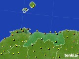 鳥取県のアメダス実況(気温)(2021年06月12日)
