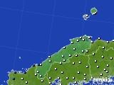 島根県のアメダス実況(風向・風速)(2021年06月12日)